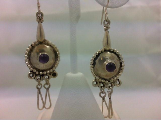 Amethyst Silver-Stone Earrings 925 Silver 11.9g
