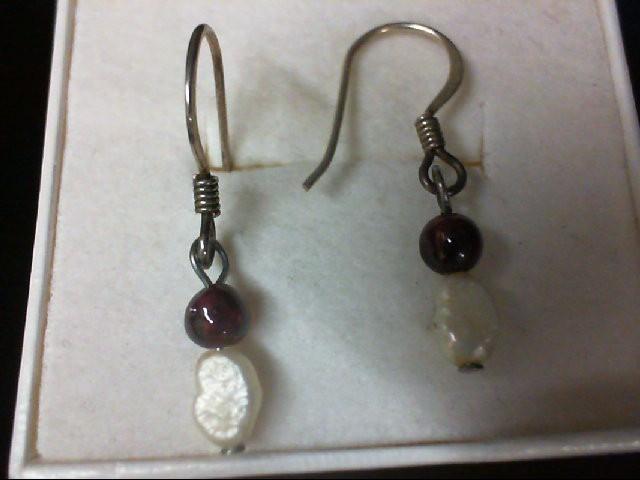 Amethyst Silver-Stone Earrings 925 Silver 0.9g