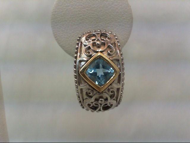 Blue Topaz Silver-Stone Earrings 925 Silver 10.4g