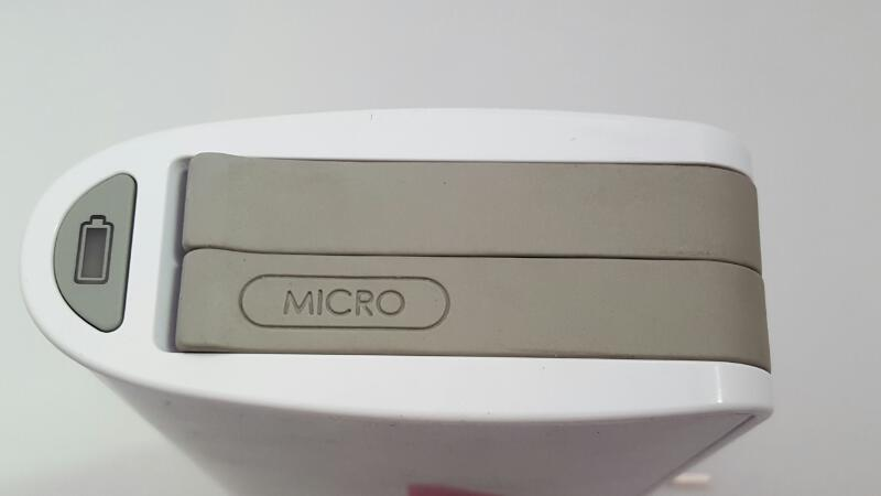 MYCHARGE Hub 9000mAh Rechargeable Power Bank Silver Lightning/MicroUsb RFAM-0234