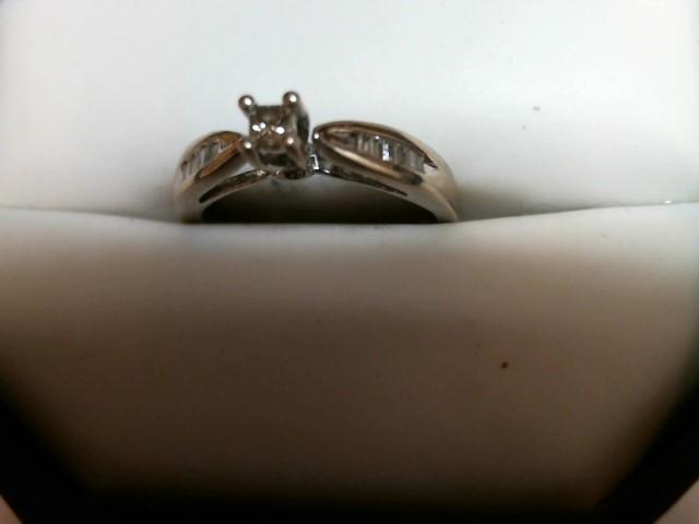 Lady's Diamond Engagement Ring .15 CT. 10K White Gold 1.7dwt