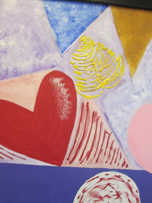 GALE CAPARRO Painting HEART PAINTING