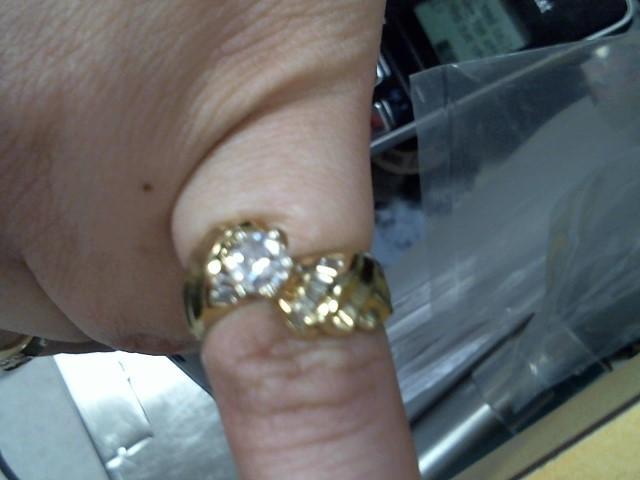 Lady's Diamond Engagement Ring 15 Diamonds 1.03 Carat T.W. 14K Yellow Gold 5.2g