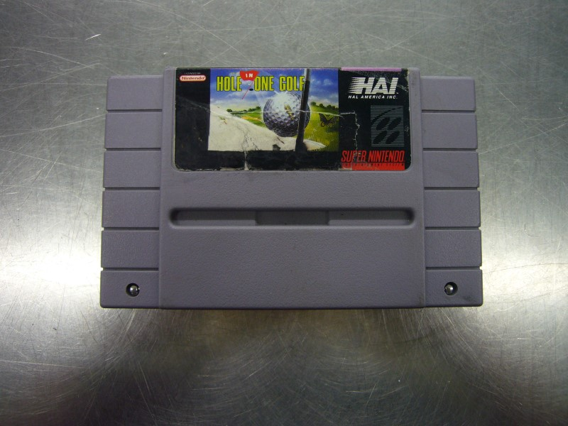 "NINTENDO SNES HOLE IN ONE GOLF ""GAME ONLY"""