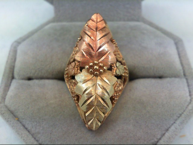 Lady's Gold Ring 10K Tri-color Gold 6.1g