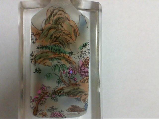 GLASS HANDPAINTED SNUFF BOTTLE