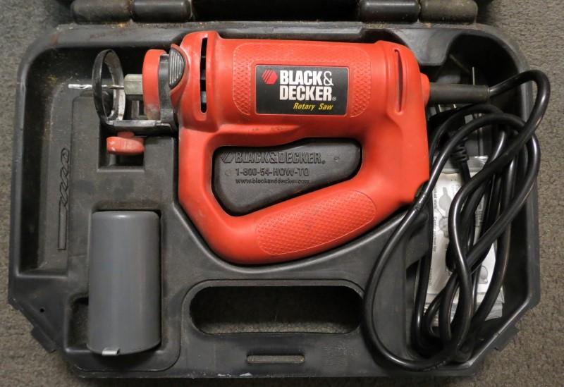 BLACK & DECKER Spiral Cut Rotary Zip Saw RS150 in Case