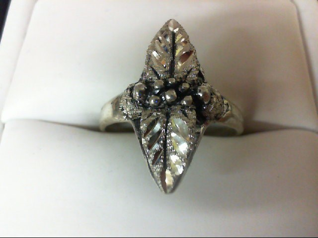 Lady's Silver Ring 925 Silver 4.2g Size:8.5