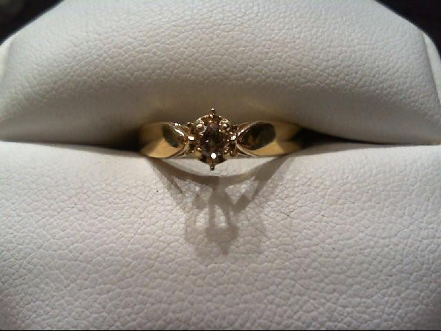 Lady's Diamond Engagement Ring .10 CT. 14K Yellow Gold 1.9g