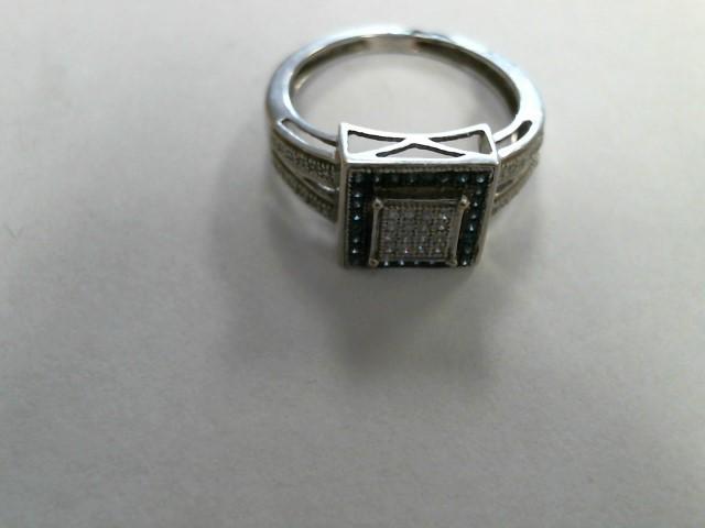 Lady's Gold Ring 14K White Gold 2.5dwt