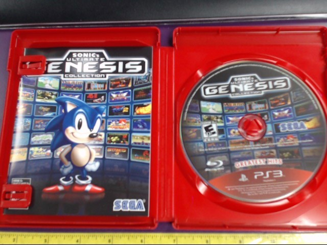 SONY PS3 SONICS ULTIMATE GENESIS COLLECTION PLAYSTATION 3