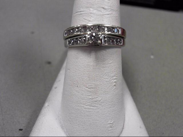 Lady's Diamond Wedding Set 18 Diamonds .53 Carat T.W. 14K White Gold 5.3g