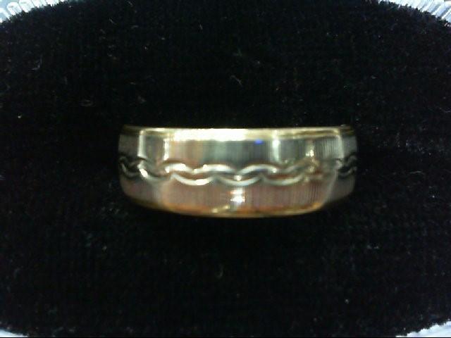 Lady's Gold Wedding Band 14K 2 Tone Gold 4.4g Size:6