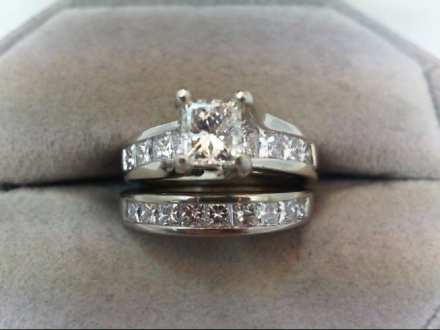 Platinum-Diamond Wedding Set 19 Diamonds 2.00 Carat T.W. 950 Platinum 10.97g