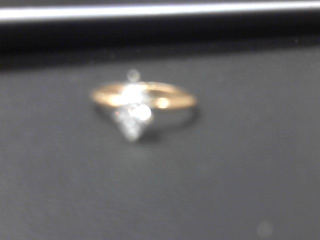 Lady's Diamond Solitaire Ring .39 CT. 14K Yellow Gold 1.7g
