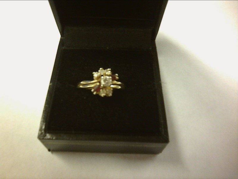 Lady's Diamond Wedding Set 6 Diamonds .20 Carat T.W. 10K Yellow Gold 2.26dwt