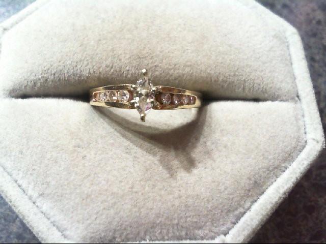 Lady's Diamond Engagement Ring 9 Diamonds .46 Carat T.W. 14K Yellow Gold 2.5g