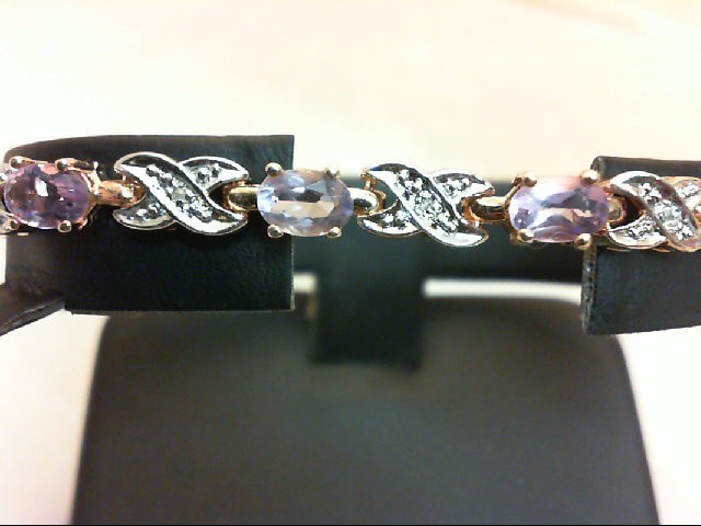 Amethyst Silver-Stone Bracelet 925 Silver 11.4g