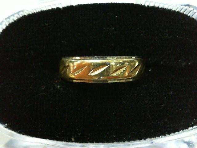 Lady's Gold Wedding Band 14K 2 Tone Gold 4.7g Size:5.5