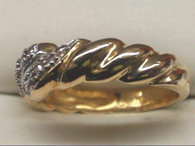 VINTAGE DIAMOND ANNIVERSARY WED RING BAND SOLID REAL 10K GOLD SIZE 6