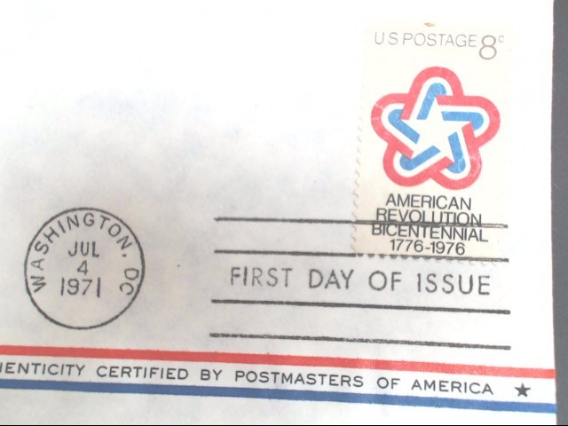 POSTMASTERS OF AMERICA LIMITED EDITION PROOF. JULY 4 1971
