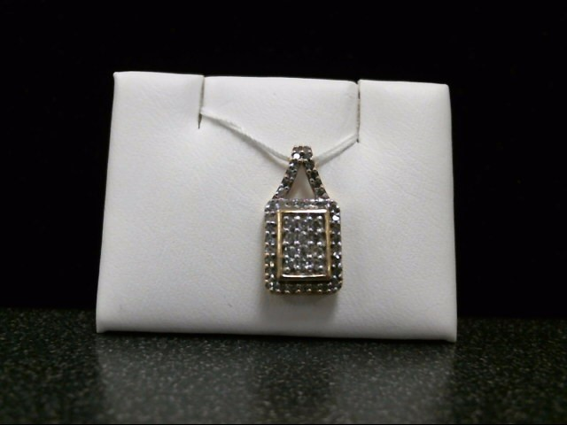Gold-Multi-Diamond Pendant 47 Diamonds .59 Carat T.W. 10K Yellow Gold 1.5g