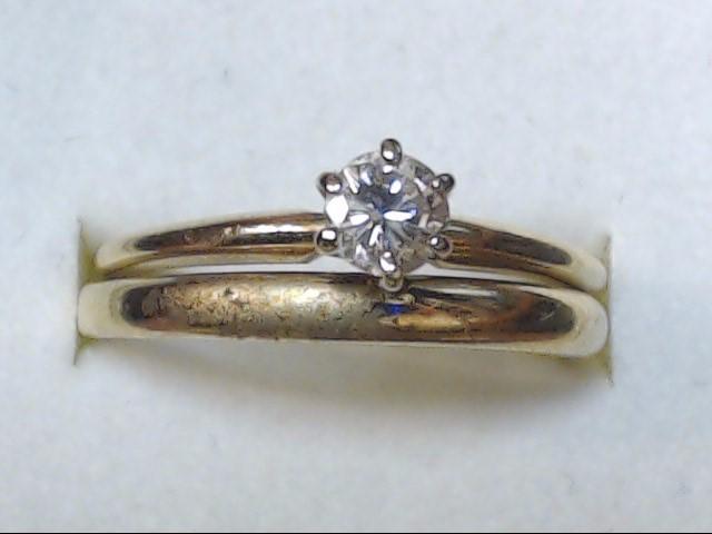 DIAMOND RING  14KT 4.4G   S-8.5
