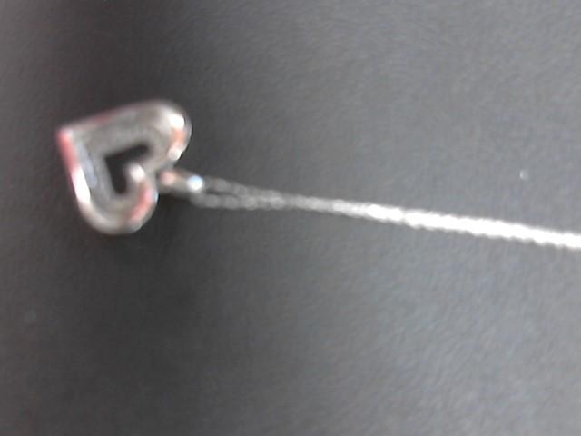 Diamond Necklace 22 Diamonds .110 Carat T.W. 10K White Gold 2.9g