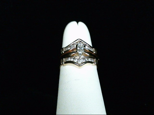 Lady's Diamond Wedding Set 19 Diamonds .53 Carat T.W. 14K Yellow Gold 5g Size:5
