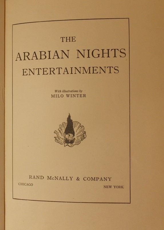 THE ARABIAN NIGHTS, ILLUSTRATED BY MILO WINTER, COPYRIGHT 1914