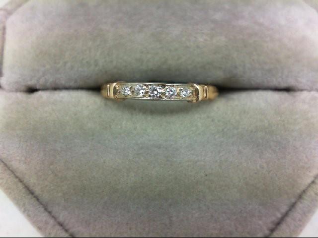 Lady's Diamond Wedding Band 5 Diamonds 0.05 Carat T.W. 14K Yellow Gold 1.1g Size