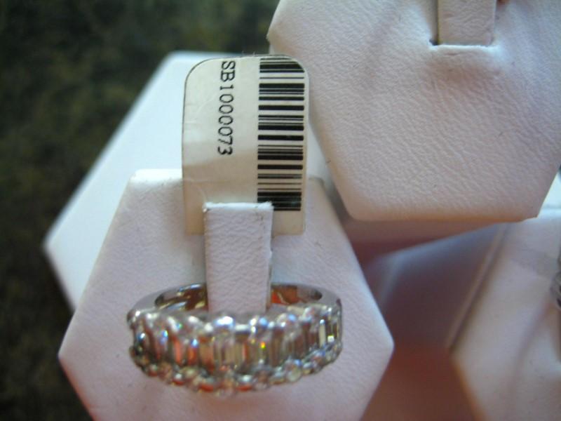 Lady's Platinum-Diamond Anniversary Ring 0.01 CT. 950 Platinum 6.8g
