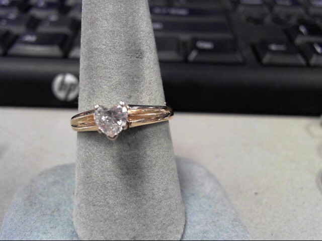 Lady's Diamond Solitaire Ring .53 CT. 14K Yellow Gold 2.2g Size:8.5