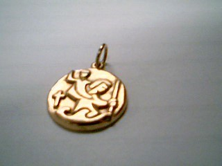 Gold Pendant 14K Yellow Gold 4.4g