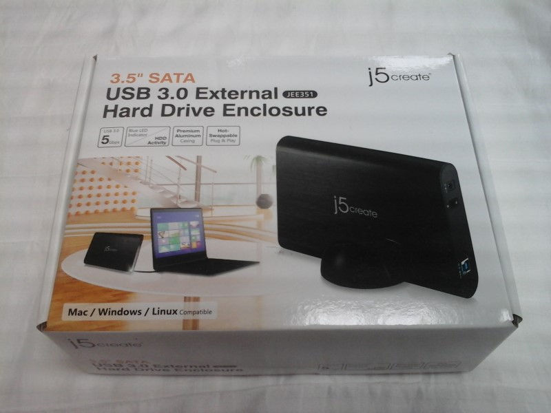 "J5CREATE 3.5"" USB 3.0 EXTERNAL HARD DRIVE ENCLOSURE JEE351 MAC/WINDOWS/LINUX"