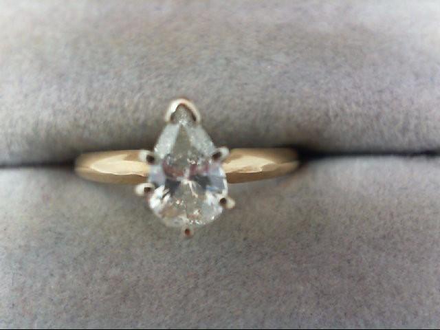 Lady's Diamond Engagement Ring .60 CT. 14K Yellow Gold 1.7g
