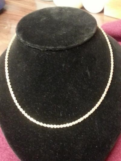 """18"""" Gold Rope Chain 10K Yellow Gold 7.3dwt"""