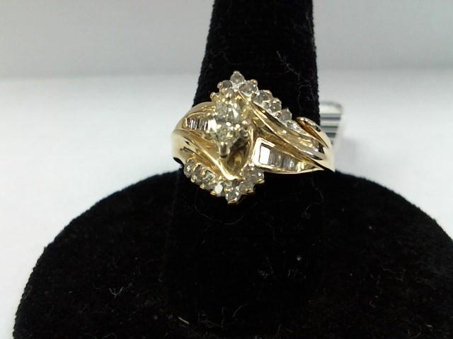 Lady's Diamond Wedding Set 25 Diamonds .39 Carat T.W. 14K Yellow Gold 4.5g