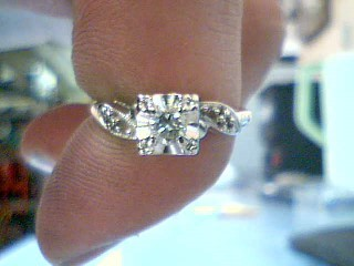 Lady's Diamond Solitaire Ring .20 CT. 14K 2 Tone Gold 2.15g