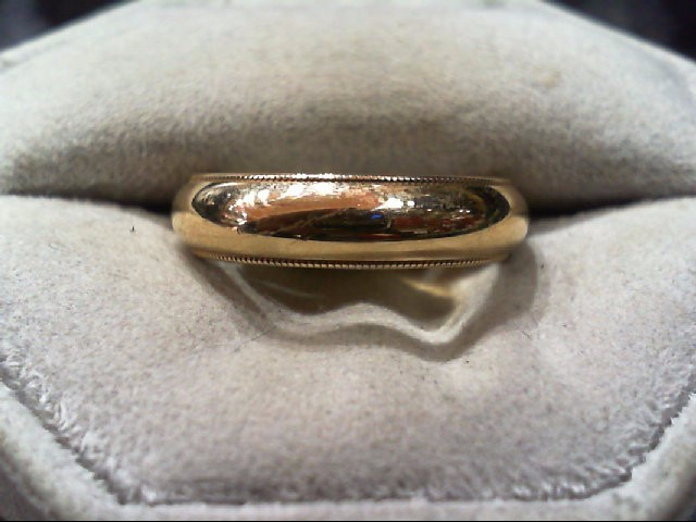 Gent's Gold Wedding Band 14K Yellow Gold 6.4g Size:8.5