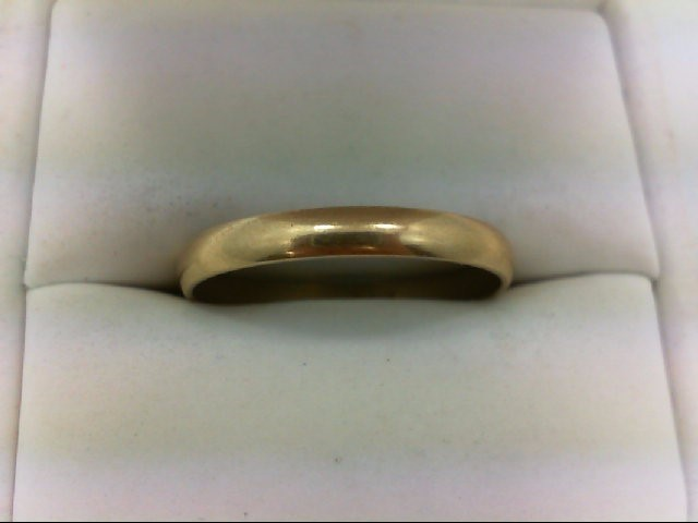 Gent's Gold Wedding Band 10K Yellow Gold 2.1g Size:11.8