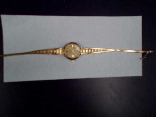 GENEVE Lady's Wristwatch LADIES  WATCHSWISS MADE V8 6 JEWELS 978 002 14KT