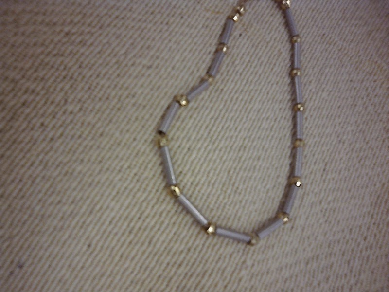 CHAIN JEWELRY JEWELRY, 14KT; CHAIN WITH 14K CLASP AND BEADS?  NOT SURE ABOUT SMA