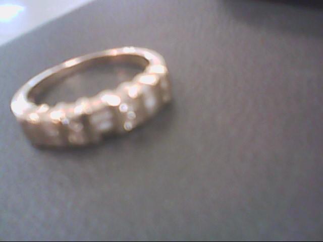 Lady's Gold-Diamond Anniversary Ring 15 Diamonds .38 Carat T.W. 14K Yellow Gold