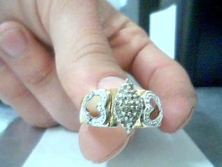 Lady's Diamond Cluster Ring 33 Diamonds .33 Carat T.W. 10K Yellow Gold 2.7g