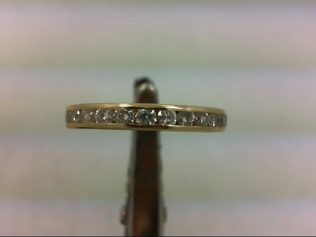 Lady's Gold-Diamond Anniversary Ring 27 Diamonds .54 Carat T.W. 14K Yellow Gold