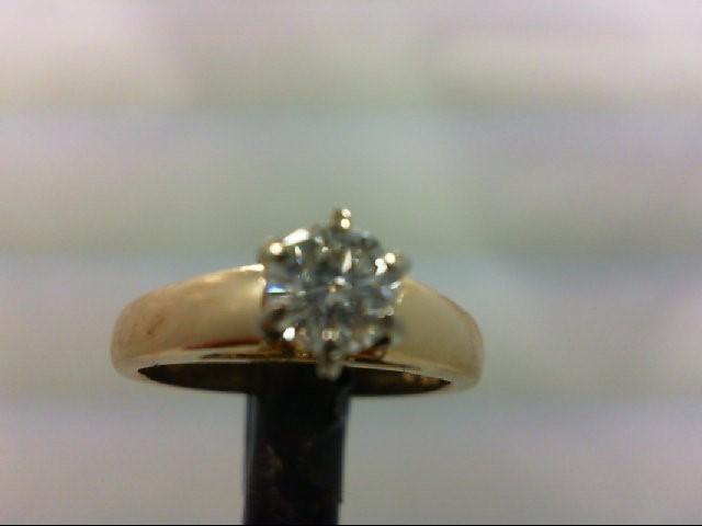 Lady's Diamond Engagement Ring .52 CT. 14K Yellow Gold 4.42g