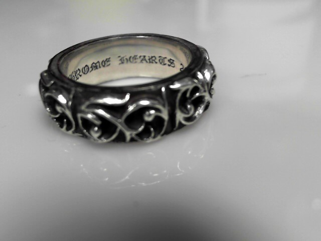 Chrome Hearts Sterling Silver Band16.11g Size:11.5