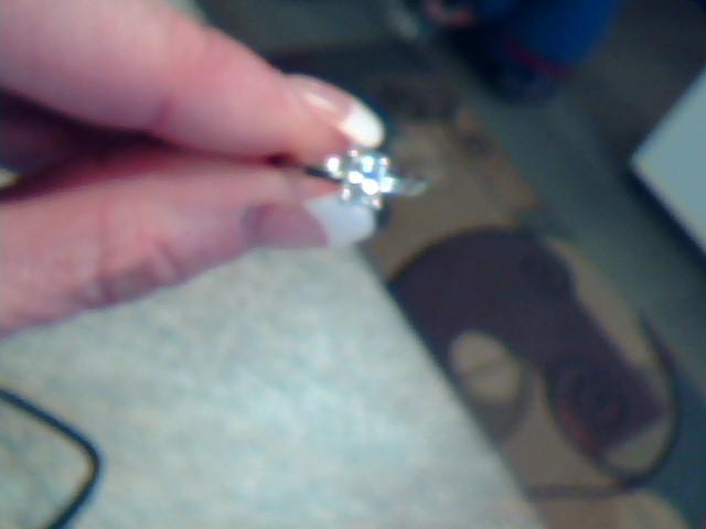 Lady's Diamond Engagement Ring .58 CT. 14K White Gold 1.6dwt