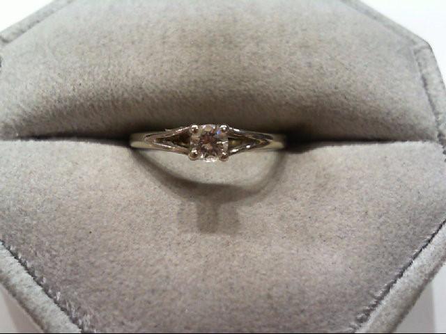 Lady's Diamond Engagement Ring .18 CT. 14K White Gold 1.8g